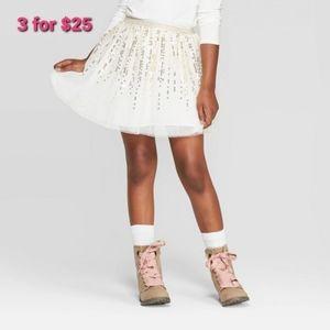 Cat & Jack Girls Skirt Sequin Size XL